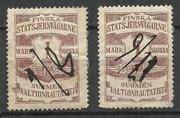 FINLAND FINNLAND 1903 Railway Stamp, 2 Exemplares, O - Paketmarken