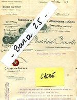 DOUBS CHARQUEMONT CHATELAIN FRS. E CURTIT CHATELAIN-CORN Montres Horlogerie Fournitures Cylindres Rhabillages 3 Factures - France