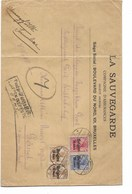 SH 0445. Oc 14-15(2°-18 BRÜSSEL 19.10.16 S/L. D' Assurances - V. Gand. Censure Encadrée De GENT. Affr. 65c - WW I