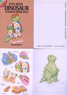 Fun With Dinosaur Sticker By Nina Barbaresi Dover USA (autocollants) - Enfants