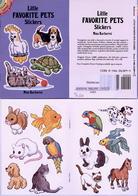 Little Favorite Pets Stickers By Nina Barbaresi Dover USA (autocollants) - Enfants