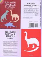 Fun With Dinosaur Stencils (petits Livre Pochoirs) Dover USA - Enfants