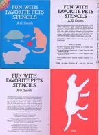 Fun With Favorite Pets Stencils (petits Livre Pochoirs) Dover USA - Enfants