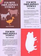 Fun With Farm Animals Stencils (petits Livre Pochoirs) Dover USA - Enfants