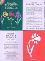 Fun With Flowers  Stencils (petits Livre Pochoirs) Dover USA - Enfants