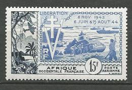AOF PA N° 17 NEUF* TRACE DE CHARNIERE  / MH - Unused Stamps