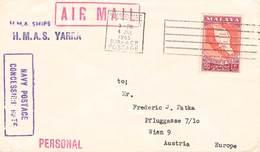 MALAYSIA - AIRMAIL NAVY POSTAGE JUN 04, 1965 - AUSTRIA //ak967 - Malaysia (1964-...)