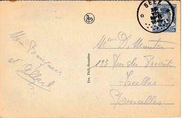 """RELAIS : ZK (HUY-MONUMENT VICTOIRE)  PZ (B)  RELAIS """"BEEZ  16.VII.1946"""" (code 12 B) - Marcophilie"""