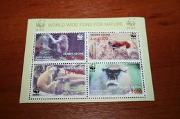 WWF Fauna Sierra Leone  Rare Mini-block - W.W.F.