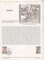 = La Maison Carrée Collection Historique Du Timbre Poste 1er Jour Nîmes 11.4.81 N°2133 - Documentos Del Correo