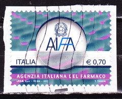 Italia 2013-AIFA  -Usato-frammento Simile - 2011-...: Oblitérés