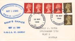 GREAT BRITAIN - MAIL COMMANDING OFFICER HMCS ST. LAURENT - AUSTRIA 1969 //ak970 - Briefe U. Dokumente