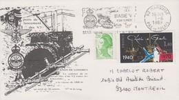 Enveloppe   FRANCE     Base  V3     Forteresse  De   MIMOYECQUES      MARQUISE  1989 - WW2