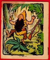 -- IMAGE BANANIA  N° 41-   ROBINSON CRUSOË  SUR SON ILE DESERTE  - - Banania