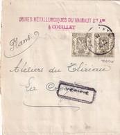 DDW 892  --  TP Petits Sceaux PERFORES M Sur Bande IMPRIME COUILLET 1944 - Usines Métallurgiques Du Hainaut - Perfins