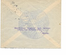 SH 0446. Oc 2 (2- Postprüfungsstelle/Etappen-Inspektion Gent 6.2.16 S/Lettre De BRUGES V. GAND. Grande Censure Aigle. - Guerre 14-18