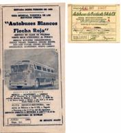 Transport Autobus à MEXICO 1966 AUTOBUSES BLANCOS Guia Turistica  De Los Servicios Unidos + 1 Ticket - Monde