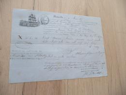 Connaissement Guérin Marseille à Saint-Pétersbourg 1875 Amandes - Verkehr & Transport