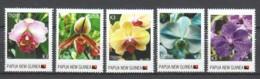 Papua New Guinea MNH Set 4 - FLORIADE 2012 - ORCHIDS - Orchids