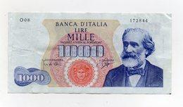 "Italia - Banconota Da Lire 1.000 ""Verdi ""- Medusa - 1° Tipo - Decreto 14.07.1962 - (FDC21271) - 1000 Lire"