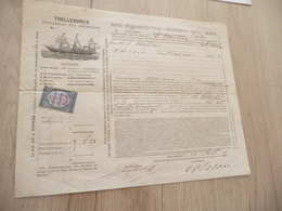 Connaissement Trelleborg's Bordeaux Pour Saint-Pétersbourg 1879 Noix - Verkehr & Transport