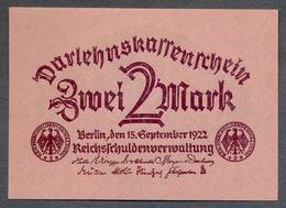 Pick 62 Ro 74 DEU-196   2 Mark 1922  UNC ! - 2 Mark
