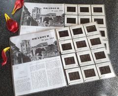 Plaquettes 2X12 Diapositives ORADOUR 10 JUIN 1944 NI HAINE NI OUBLI – Série 1 Et Série 2 . - 1939-45