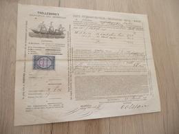 Connaissement Trelleborg's Bordeaux Pour  Saint-Pétersbourg 1879 Olives Câpres - Transportmiddelen