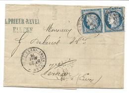 France Facture Prieur Neveu Elbeuf 29/05/76 / Paire 60C - 1849-1876: Période Classique