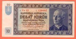 SLOVAQUIE Billet 10 Korun 15 09 1939 Pick 4s SPECIMEN - Slowakei