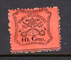 1868 - STATO PONTIFICIO - Catg. Sass. NR.  26C - Firmato. Biondi  - LH - (W2019.38..) - Etats Pontificaux