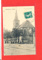 80 ESCARBOTIN Cpa Animée L ' Eglise          Photo Dumont - Autres Communes