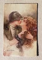 Cartolina Illustrata M.Santino Da Fiume 29/06/1920 - Couples