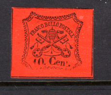 1867 - STATO PONTIFICIO - Catg. Sass. NR.  17 - Firmato. Biondi  - LH - (W2019.38..) - Etats Pontificaux