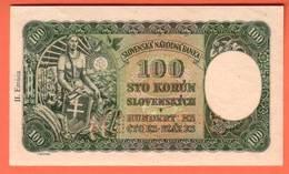 SLOVAQUIE Billet 100 Korun 07 10 1940  Pick 10s SPECIMEN - Slowakei