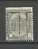 België Handrol Voorafstempeling 410 A & B Bruxelles 02 (2x) - Roller Precancels 1894-99