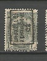 België Handrol Voorafstempeling 411 A & B Bruxelles R. Chancellerie 02 (2x) - Roller Precancels 1894-99