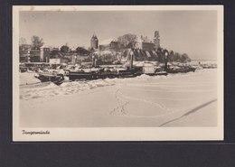 Ansichtskarte Tangermünde Sachsen Anhalt Schneelandschaft Schiff Burg - Unclassified