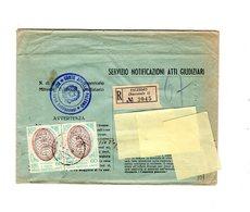 P0677 SERVIZIO NOTIFICAZIONE ATTI GIUDIZIARI COPPIA ONU L. 60 ISOLATA - 6. 1946-.. Repubblica