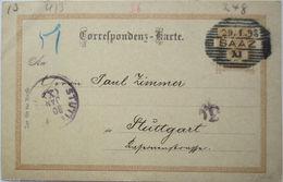 Österreich, Ganzsache 1898 Aus Saaz  - Österreich