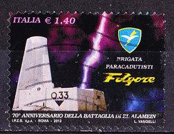 Italia 2012 El Alamein  -Usato Frammento - 2011-...: Oblitérés