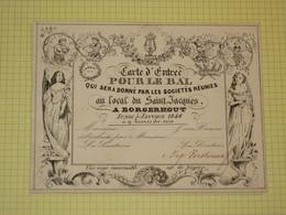 BORGERHOUT 1846 - Carte D'Entrée Pour Le Bal Porseleinkaart (niet Geporseleind) - Porcelana