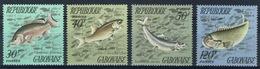 Gabon, Fish, 1975, MNH VF complète Set Of 4 - Gabon