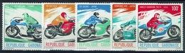 Gabon, Bikes, 1976, MNH VF complète Set Of 5 - Gabon