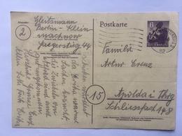 GERMANY - Berlin 1946 Postkarte 6pf To Apolda - [5] Berlino
