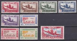 Sénégal Poste Aérienne N°22/30 Neuf** Et Neuf Charnière - Aéreo