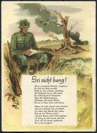 Germany Feldpost - Gedicht - Sei Nicht Bang - Hahn-Butry, Jürgen Soldatenleben Postcard - Germany