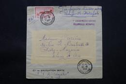 ALGÉRIE - Enveloppe 1ère Liaison Postale Philippeville / Métropole En 1953 Pour Chilly Mazarin, Affr. Plaisant - L 57725 - Covers & Documents