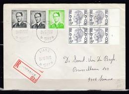 Aangetekende Brief Van Viane 1581 (sterstempel) Naar Ninove - 1953-1972 Anteojos