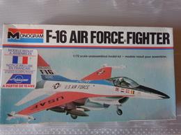 Maquette Avion Militaire-en Plastique-1/72 Monogramm  F 16 Air Force Fighter  Ref  5200 - Airplanes